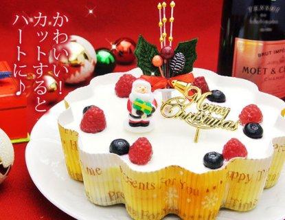 要出典 クリスマスケーキ 通販 クリスマスケーキ 幸せのダブルチーズケーキ5号