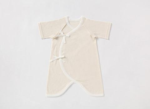 要出典 新生児肌着 プリスティン オーガニックコットン 22世紀ベビー フライスコンビ肌着