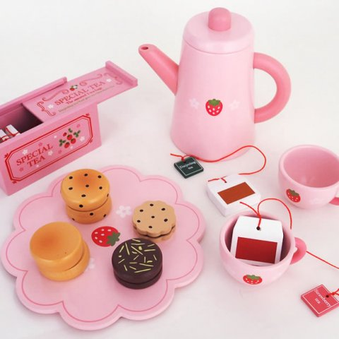 要出典 女の子 おもちゃ マザーガーデン 木のおままごと 野苺 ポット紅茶セット スコーン+ティーセット