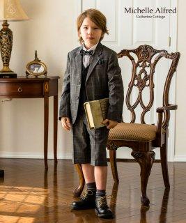 要出典 小学校 入学式 スーツ 長ズボン キャサリンコテージ ダブルボタンベスト付きグレンチェックスーツ6点セット