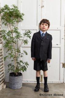 要出典 入学式男の子スーツ オリバーハウス 男の子 ブラックフォーマル 5点セット