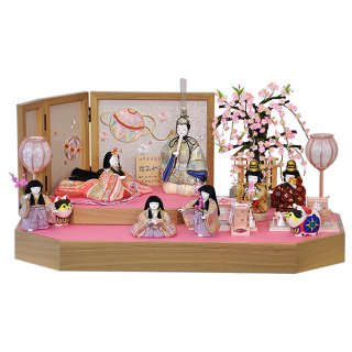 要出典 雛人形 コンパクト 秀光人形工房 雛人形 コンパクト 木目込 木村一秀作