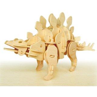 要出典 8歳 男の子 プレゼント 誕生日 動く木製3Dパズルキット D440ステゴザウルス