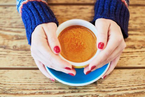 ネイル コーヒー リラックス