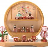 要出典 木目込み 雛人形 一秀 木目込み 雛人形 五人飾り まどか飾り 安土雛