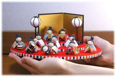 要出典 雛人形 ミニ  優風花 雛あそび三段飾り お雛様ミニ