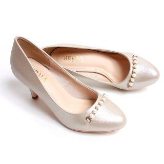 要出典 入園式 ママ 靴 パンプス ヘッジホッグ パールラインモチーフ シャイニーパンプス