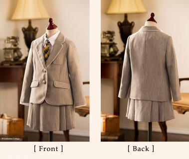 要出典 入学式女の子スーツ キャサリンコテージ ミッシェル アルフレッド ヘリンボーン パイピングスーツセット