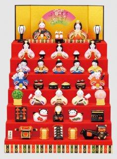 要出典 雛人形 ミニ 薬師窯 錦彩華みやび雛 七段飾り ミニ