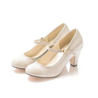 要出典 入学式 ママ 靴 メヌエ ラウンドトゥ ストラップ パンプス