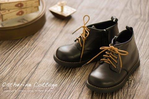 要出典 入学式 男の子 靴 キャサリンコテージ 靴紐2種付属 男女兼用 ワークブーツ