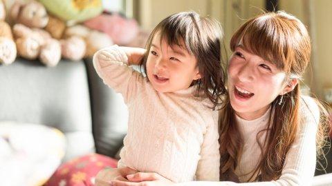 日本人 親子 ママ 女の子