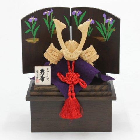 要出典 五月人形 おしゃれ 五月人形 ひのき木彫り兜 勇希 3点セット