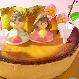 要出典  ひな祭り ケーキひな祭りバージョン濃厚ベイクドチーズケーキ