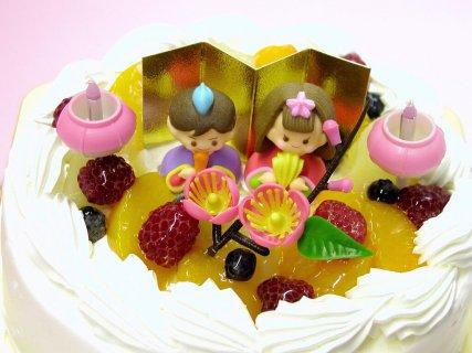 要出典  ひな祭り ケーキひなまつりデコレーションケーキ