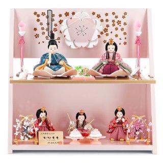 要出典 木目込み雛人形 柿沼東光 ひなもも 絢爛春桜 限定品