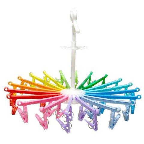 要出典 赤ちゃん・子供用ハンガー 赤ちゃんハンガー アーム20本 虹色カラー