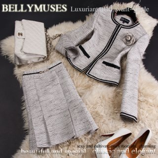 要出典 入園式 ママスーツ BELLYMUSES ツイードスーツ