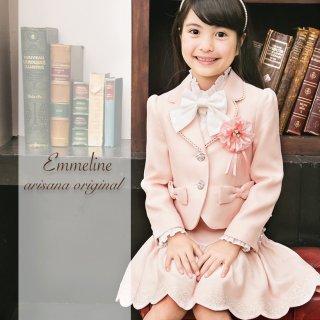 要出典 入学式用スーツ 女の子 女の子 フォーマル ジャケット/スカート/ブラウス/ブラウスリボン/コサージュの入学式スーツ5点
