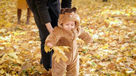 赤ちゃん ジャンプスーツ お出かけ 秋