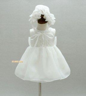要出典 赤ちゃん 結婚式用ドレス ベビードレス 帽子付き ベビードレス 結婚式