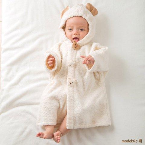 要出典 アモローサマンマ くま 赤ちゃん バスポンチョ