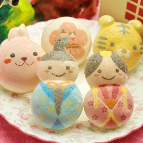 要出典 ひな祭り 桃の節句 お菓子 ロイヤルガストロ ひなまつり お絵かきマカロン 動物っこ 5個入