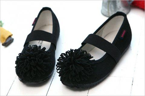 要出典 入学式 女の子 靴 ほっこりお花スエード調バレエシューズ 入学式 子供