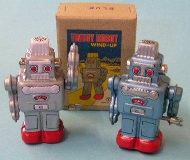 要出典 ブリキ おもちゃ ブリキのおもちゃ ロボット (ゼンマイ式歩行)