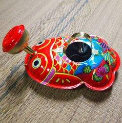 要出典 ブリキ おもちゃ ブリキでできたの金魚ジョーロ