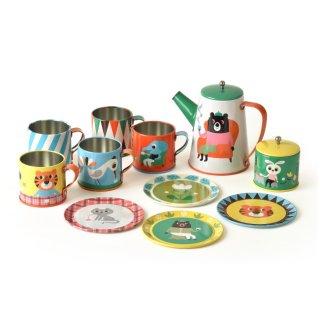 要出典 ブリキ おもちゃ 要出典 ブリキのおもちゃ OMM-design Tin Tea Set cafeオーナーなりきりセット