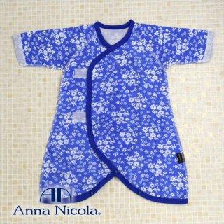 要出典 コンビ肌着 アンナニコラ  ダブルガーゼ小花柄新生児コンビ肌着・日本製
