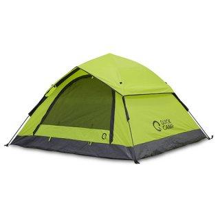 クイックキャンプ ワンタッチテント 3人用 フライシート付き ポップアップテント