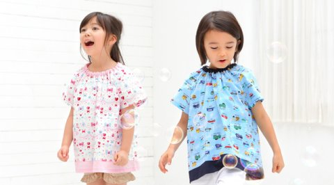 要出典 スモック Colorful Candy Style 幼稚園スモック 半袖
