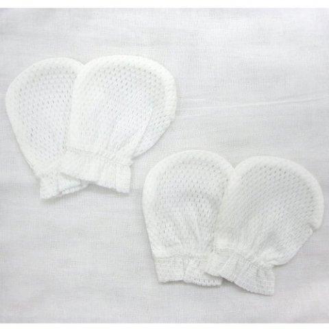 要出典 赤ちゃん ミトン 新生児 手袋 川端縫製 ベビーミトン2組セット