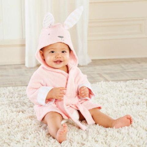 要出典 ベビーバスローブ ベビーアスペン ウサギさんフード付きバスローブ