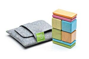 要出典 3歳 知育玩具 Tegu ポケットポーチ磁気木製ブロックセット