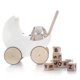 要出典 人形用ベビーカー 木製 手押し車 ooh noo Toy Pram