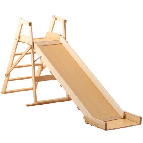 要出典 室内滑り台 サワベビー ベビーベッド 木製すべり台