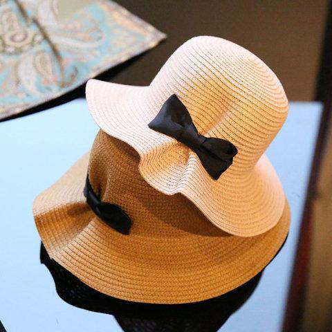 要出典 帽子 おしゃれ ママ 麦わら帽子 つば広 リボン 折りたたみ