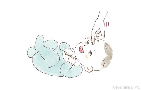 新生児・生後1ヶ月の赤ちゃんとの遊び方 体とことこ イラスト