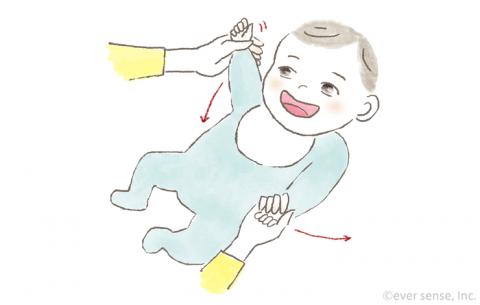 新生児・生後1・2・3ヶ月の赤ちゃんとの遊び方 手の運動遊び イラスト