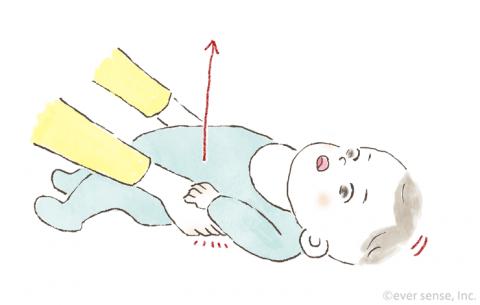 新生児・生後1・2・3ヶ月の赤ちゃんとの遊び方 胸の運動遊び イラスト