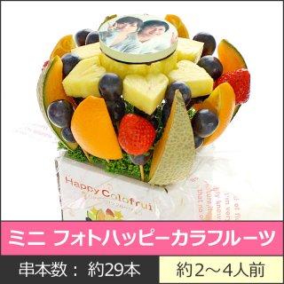 要出典 写真ケーキ ギフトパーク フルーツケーキ ミニ フォトハッピーカラフルーツ