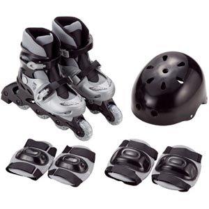 要出典 ローラースケート 子供 カイザー インラインスケートセット シェルブーツタイプ