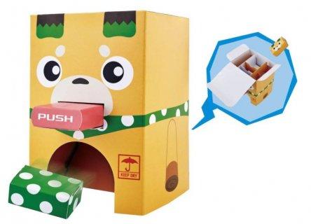 要出典  自動販売機 おもちゃ バンダイ ポチっと発明ピカちんキット ピカッと発明 ダンボールポチっと自販機