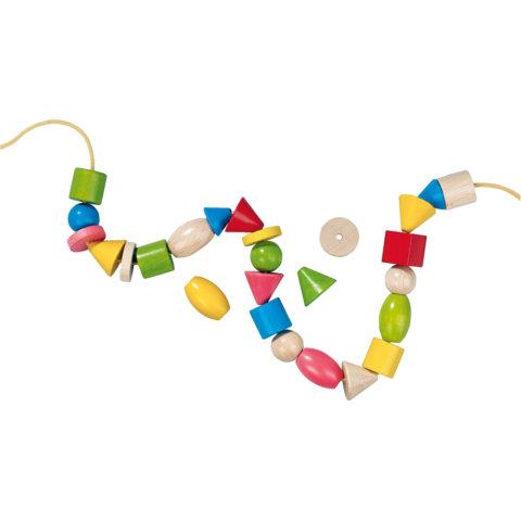 要出典 紐通し おもちゃ ハバ カラービーズ 6シェイプ