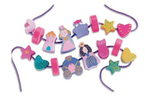 要出典 紐通し おもちゃ ジェコ ビーズ プリンセス