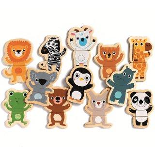 要出典 マグネット おもちゃ DJECO クク ジャングル DJ03118