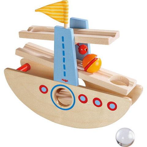 要出典 船のおもちゃ ハバ 大きな玉のクーゲルバーン シップ